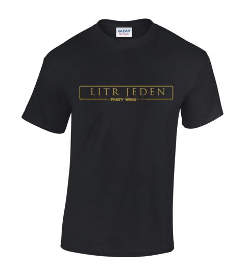 koszulka litr jeden meska czarna
