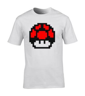 koszulka meska biala mario grzyb czerwony