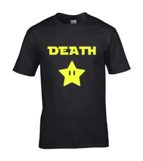 koszulka meska death star czarna neonowa