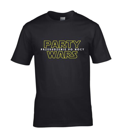 koszulka meska party wars przebudzenie po nocy czarna
