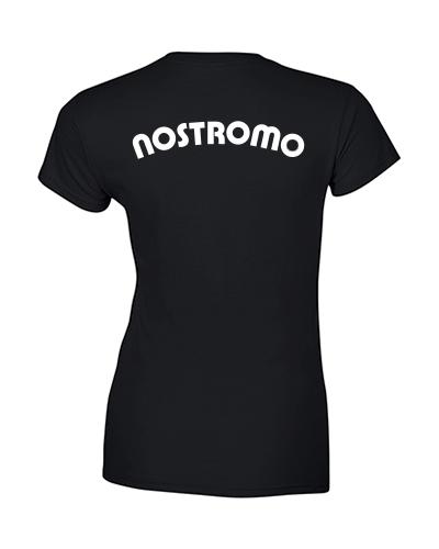 koszulka nostromo damska czarna tyl