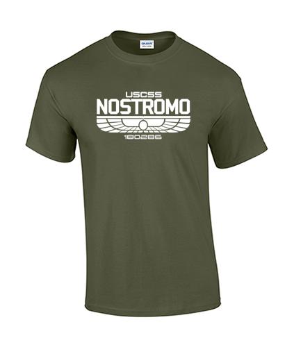 koszulka nostromo meska zielona militarna przod