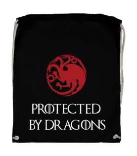 plecak worek bawelniany protected by dragons z nadrukiem gra o tron