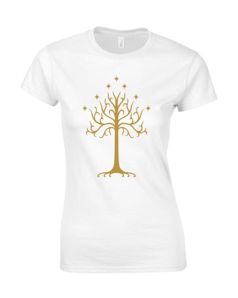koszulka damska minas tirith biala