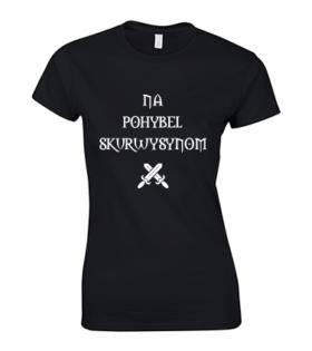 koszulka damska na pohybel czarna