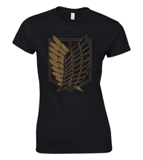koszulka damska skrzydła wolności atak tytanów
