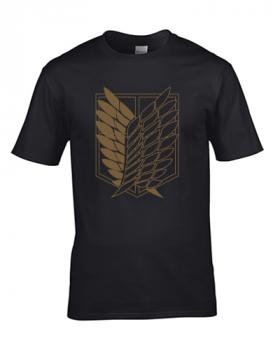 koszulka męska atak tytanów skrzydła wolności
