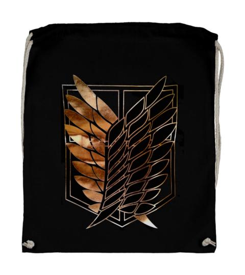 plecak bawelniany czarny skrzydkla wolnosci