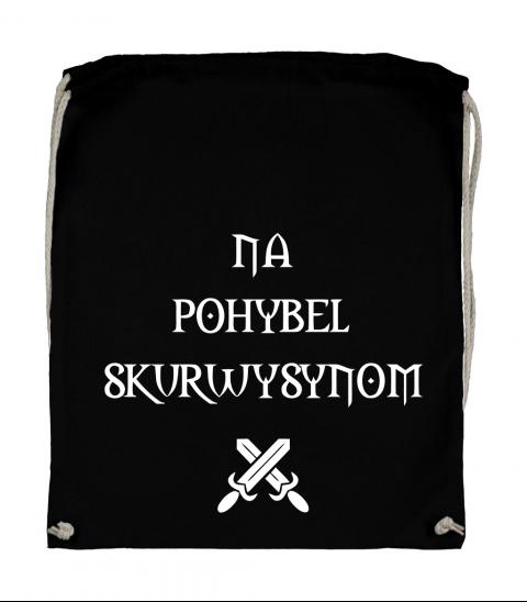 plecak worek czarny na pohybel skurwysynom