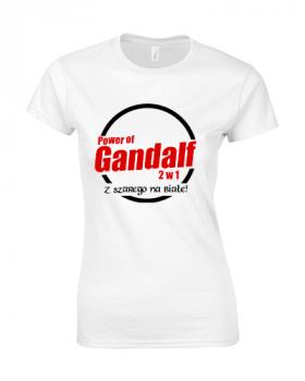 koszulka damska gandalf biala