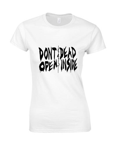 koszulka damska walking dead biala