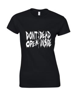 koszulka damska walking dead czarna