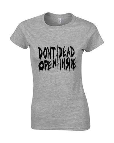 koszulka damska walking dead szara