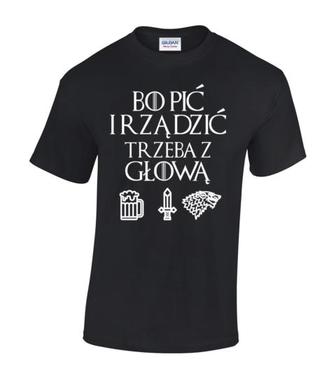 koszulka meska gra o tron bo pic czarna