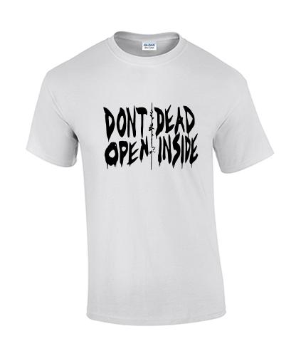 koszullka meska walking dead biala