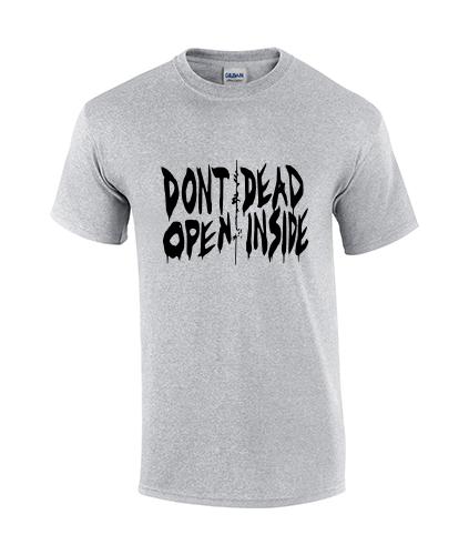 koszullka meska walking dead szara