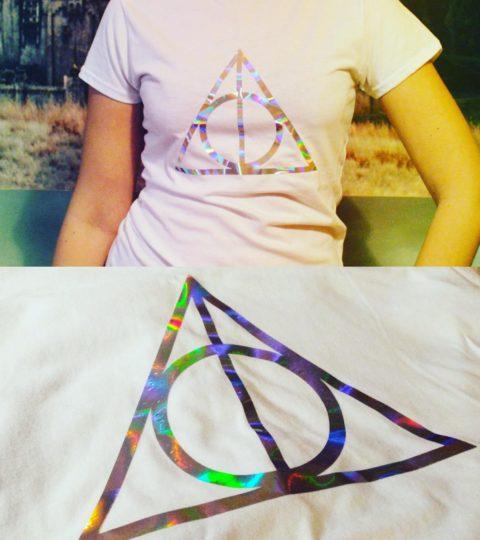 holograficzne koszulki harry potter insygnia smierci