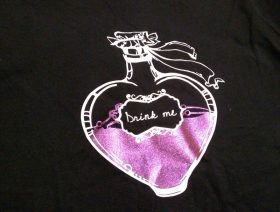 koszulka damska drink me czarna